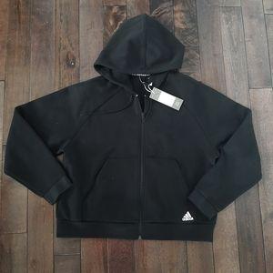 Adidas Full Zip Black Track Top Hoodie NEW!